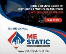 Middle East Static Equipment Engineering & Maintenance Conference 2019
