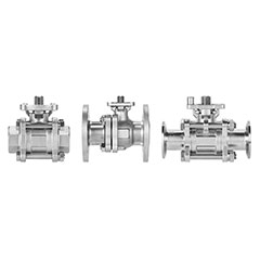Ball valves VZBE, VZBF and VZBD in stainless steel