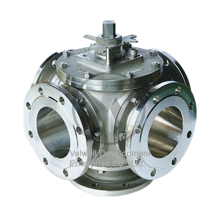 Multiple Way Flanged Ball Valves