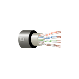 Cat. 5e 4x2x24/1 AWG U/UTP Low temperature PVC/FR-UV PE (Preliminary)