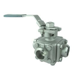 3 Way Butt Weld End Ball Valve