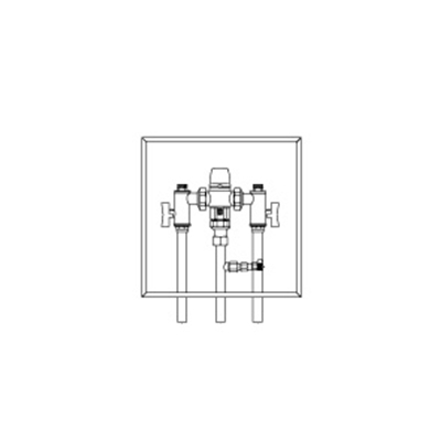 Plumbing Thermostatic Mixing Valve - Stainless Steel Box to suit TMV