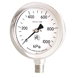 Pressure Gauge Stainless Steel 600 Series