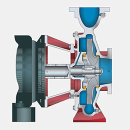 300 series rec close-coupled end suction pumps