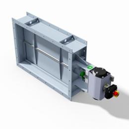 louver damper valve