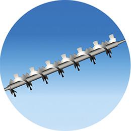 screw conveyor with external cut -paddles