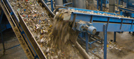 Extremely robust |conveyor technology|for recycling plants