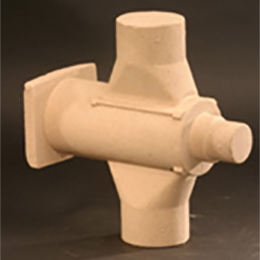 Isocure core for plug fittings