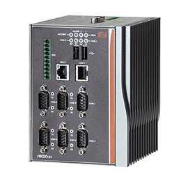 DIN-rail Fanless Box PC rBOX101-6COM(ATEX)