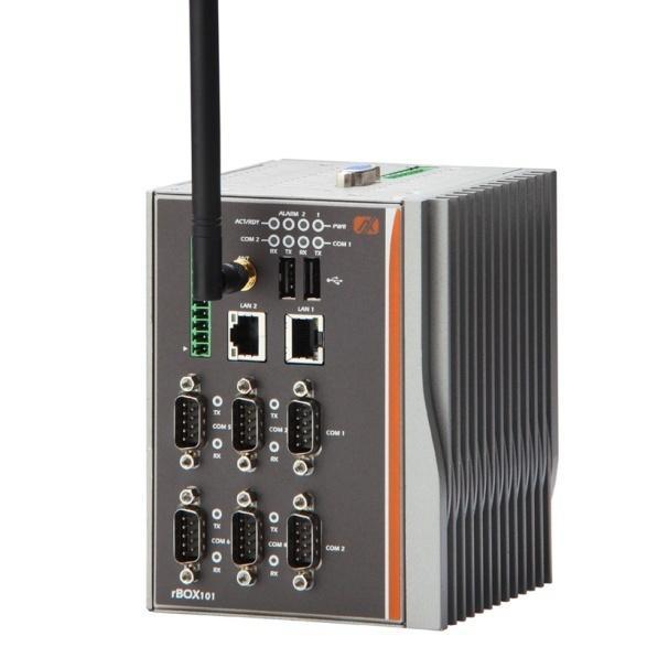 Energy Saving DIN-rail rBOX201-6COM