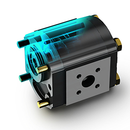 Aluminium body hydraulic gear pumps and motors-Whisper