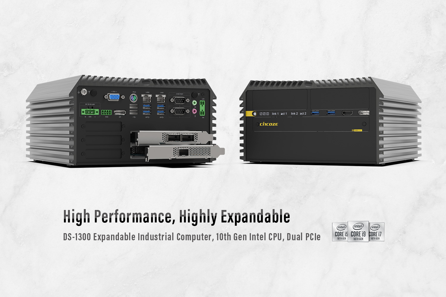 DS-1300 Series │ Extreme Performance & Expandable Fanless Computer