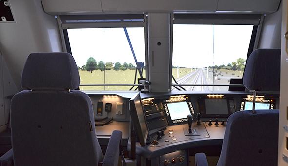 Passenger rail Main line and high speed train simulators