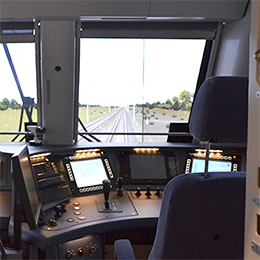 passenger rail main line and high speed train simulators
