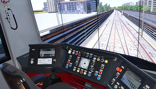 Simulators for LRV / tramways, metro and suburban trains