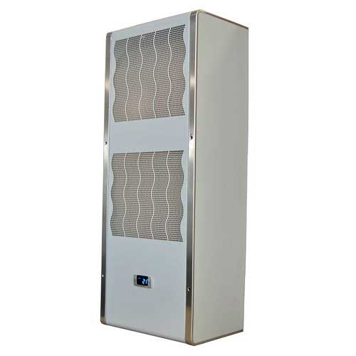 Side-mount electrical cabinet air conditioner