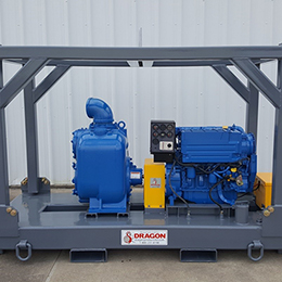 60hp skid mount trash pump