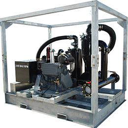 galvanized skid mount vacuum-blower pump