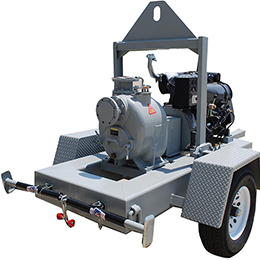 mobile diesel engine trash pumps