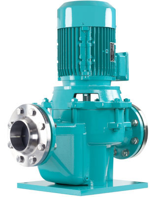 Inline centrifugal pumps