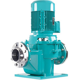 Inline centrifugal pumps