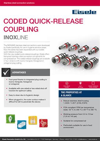 Eisele flyer coded quick-release coupling EN