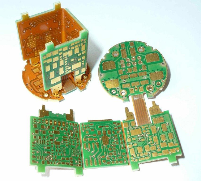 Rigid flexible printed circuit boards