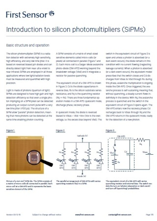 Introduction to silicon photomultipliers