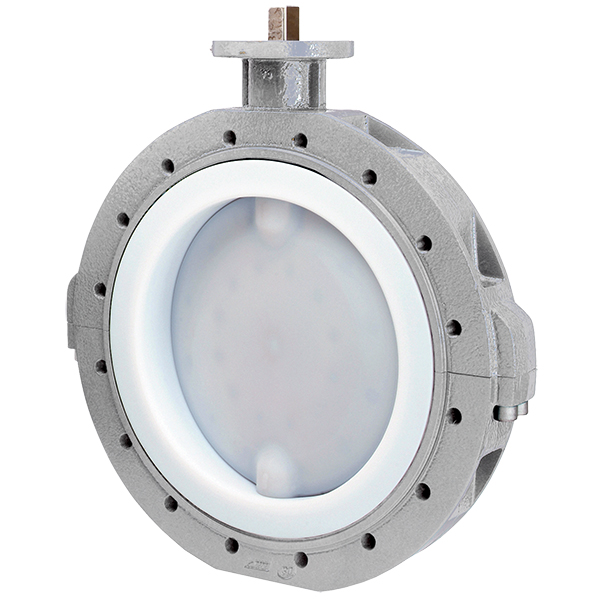 Butterfly valve with bare shaft 490
