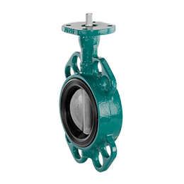 Butterfly valve with bare shaft D480