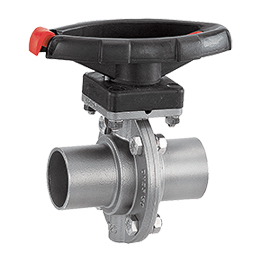 Manually operated butterfly valve 411