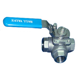 3 Way Reduced Port Threaded Ball Valve