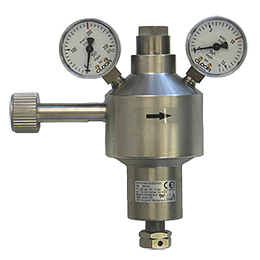 central pressure regulators for high flow rates