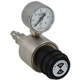 gas outlet pressure regulator