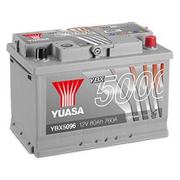 ybx5000 silver high performance smf batteries