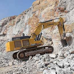 Large excavator / crawler / mining and quarrying / diesel CLG970EIIIA