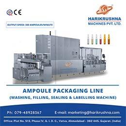 AMPOULE PACKAGING LINE