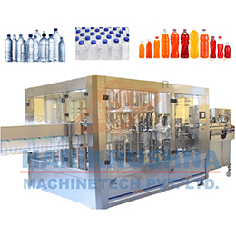 AUTOMATIC ROTARY (3 IN 1) RINSING or FILLING AND CAPPING MACHINE