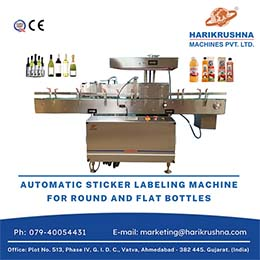 AUTOMATIC ROUND BOTTLE STICKER LABELING MACHINE