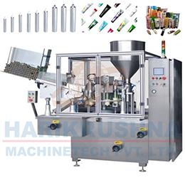 AUTOMATIC TUBE FILLING MACHINE AND SEALING MACHINE & CODING MACHINE