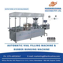 Automatic Vial Filling Machine and Rubber Bunging Machine