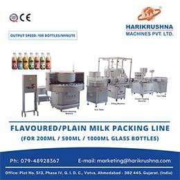 Flavoured Plain Milk Packaging Line
