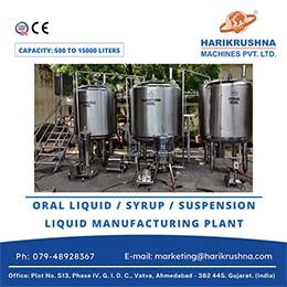Oral Liquid or  Syrup Suspension or  Manufacturing Plant