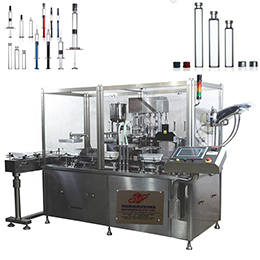 PRE-FILLED SYRINGE FILLING, STOPPERING AND LABELING MACHINE