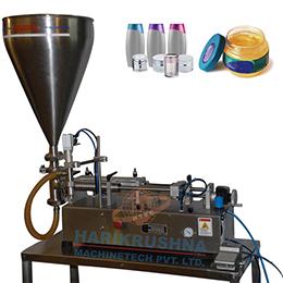 SEMI AUTOMATIC PISTON FILLING MACHINE - TABLE TOP