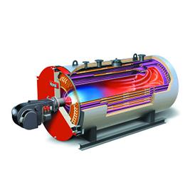 thw-i nte heating boiler