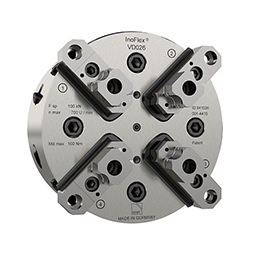 4-jaw closed center manual chuck