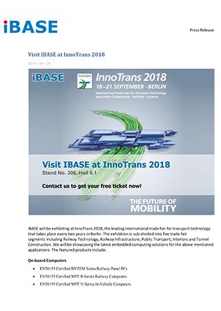 Visit IBASE at InnoTrans 2018