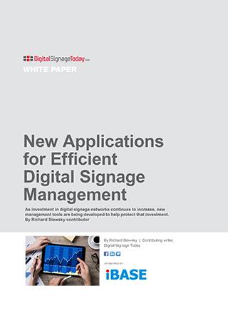New Applications for Efficient Digital Signage Management