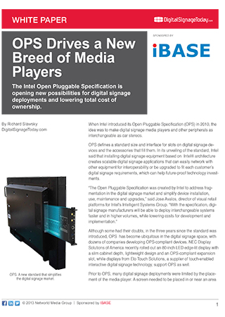 OPS Drives a New Breed of Media Players
